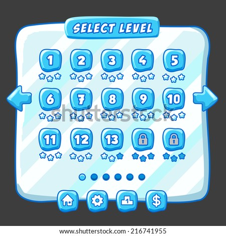 stock-vector-level-selection-menu-ice-st