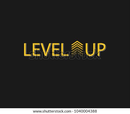 Level up vector.