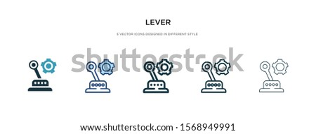 lever icon in different style vector illustration. two colored and black lever vector icons designed in filled, outline, line and stroke style can be used for web, mobile, ui Stock photo ©