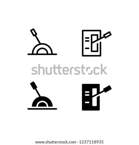 Lever Icon Logo Vector Symbol. Handle Icon Stock photo ©