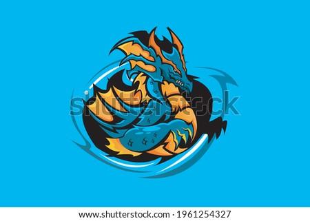 leviathan mascot logo vector