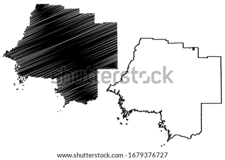 Levy County, Florida (U.S. county, United States of America, USA, U.S., US) map vector illustration, scribble sketch Levy map