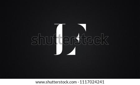 LF Letter Logo Design Template Vector Stock fotó ©
