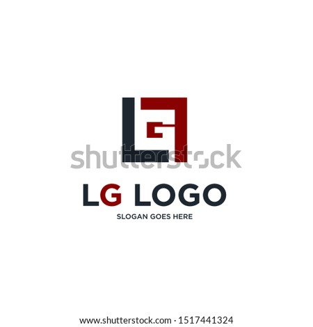 lg logo a little explanation of the concept of the logo: unique letter n with clean, clear, thick, elegant lines Stok fotoğraf ©
