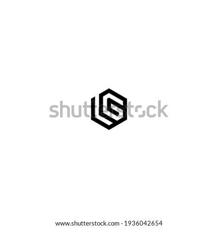 lg logo latter vector templete Stok fotoğraf ©