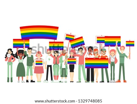 lgbt and gay parade  protest