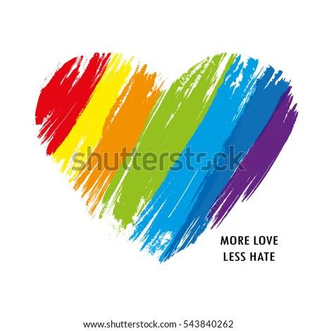 LGBT heart in vector format. Rainbow heart.