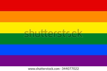 LGBT pride flag  in vector format. Rainbow flag.