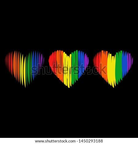 lgbt pride flag  logo lgbtq