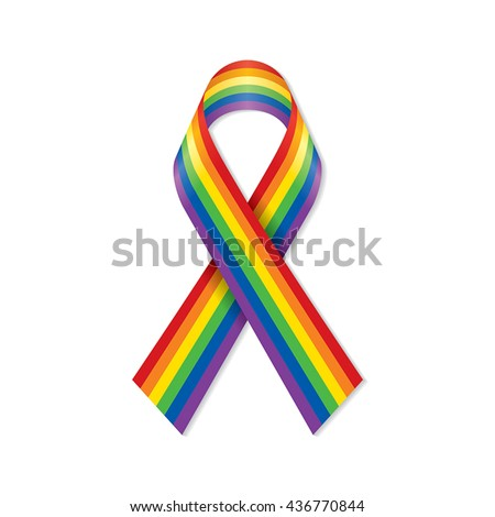 LGBT Rainbow Ribbon