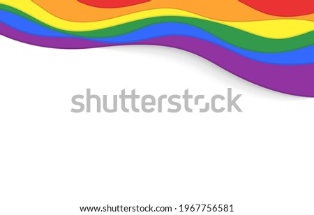 LGBT rainbow wave flag flutter of lesbian, gay, and bisexual colorful concept vector background Stockfoto ©