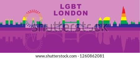 lgbt themed vector illustration