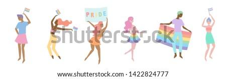 LGBTQIA Parade. Pride Month Illustration Vector
