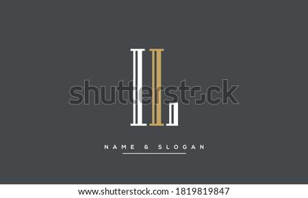 LI, IL Abstract Logo Monogram vector Template Foto d'archivio ©