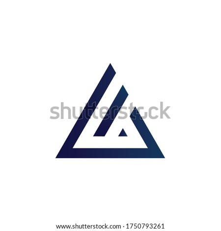 LIA Logo letter monogram with triangle shape design template isolated Foto stock ©