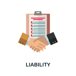Liability flat icon. Color simple element from customer loyalty collection. Creative Liability icon for web design, templates, infographics and more