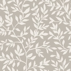 Liana seamless pattern with leaves creeper. Endless natural illustration