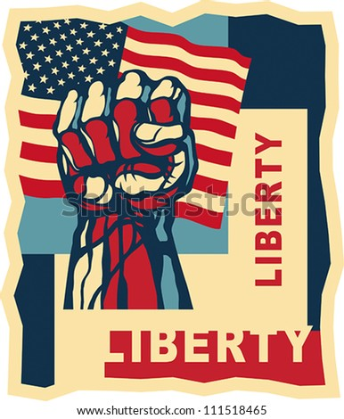Liberty, art concept. EPS 8, CMYK - stock vector