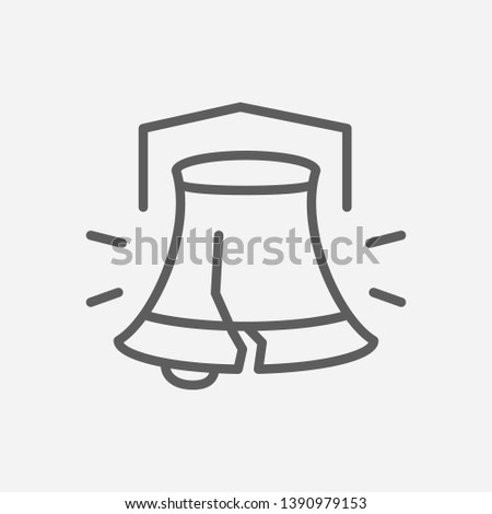 Liberty bell icon line symbol. Isolated vector illustration of  icon sign concept for your web site mobile app logo UI design.