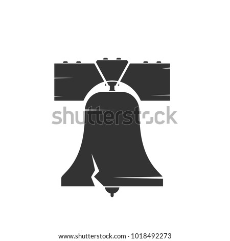 Liberty bell silhouette. Clipart image isolated on white background