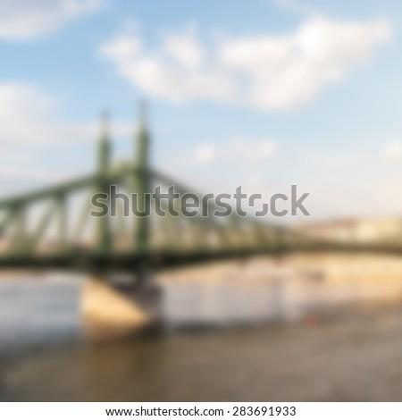 liberty bridge in budapest