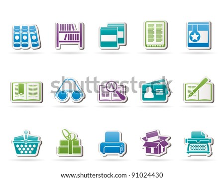 Library and books Icons - vector icon set