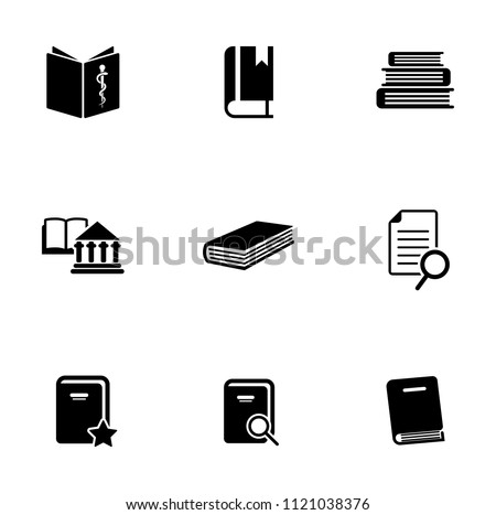 library books icons set - education icons - learning sign & symbols