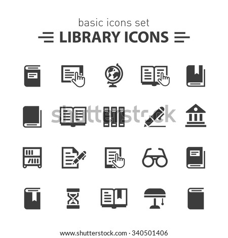 Library icons.