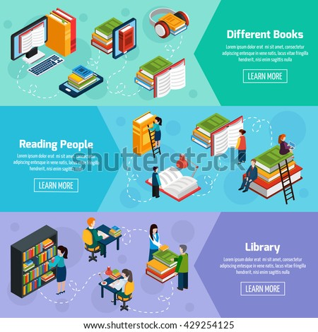 library isometric horizontal