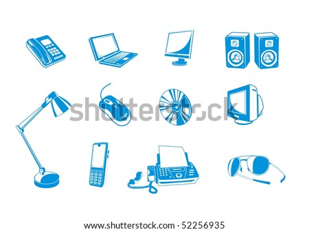 library of computer devices for office