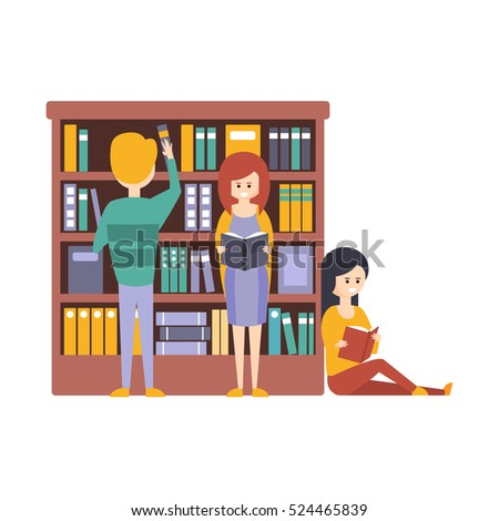 library or bookstore with