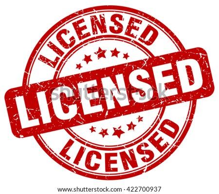 licensed. stamp