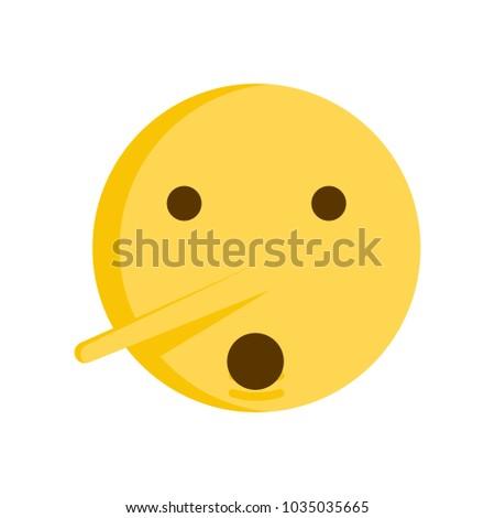 lie emoticon concept vector