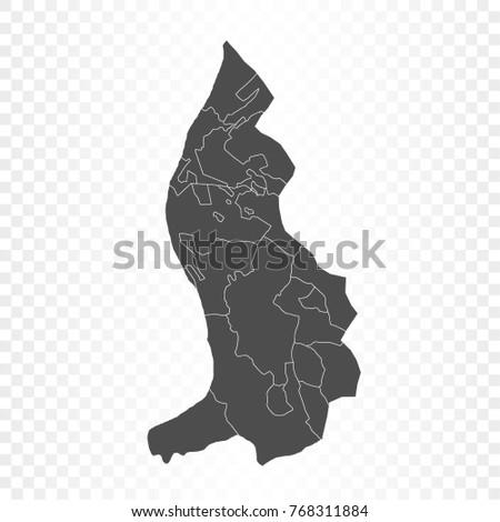 liechtenstein map isolated on transparent background