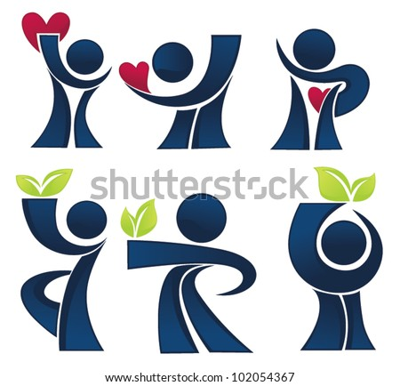 life and love vector collection of ecological and healthy people