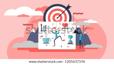Life coach vector illustration. Self growth work artistic flat poster with mentor or coach. Personal education about motivation, inspiration and life strategy to success.