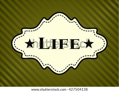 Life colorful card