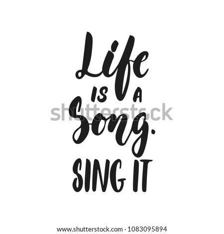 life is a song sing it   hand
