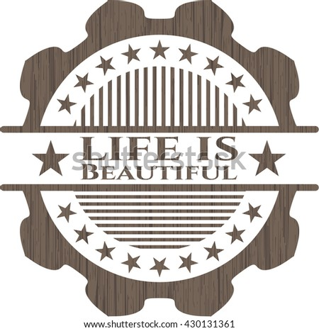 Life is Beautiful wood signboards