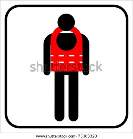 life jacket - stock vector