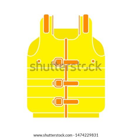 life jacket icon. flat illustration of life jacket vector icon. life jacket sign symbol