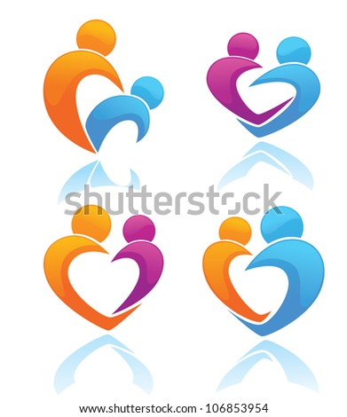 life, love and people, vector collection of sign and symbols
