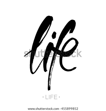 life modern calligraphy brush