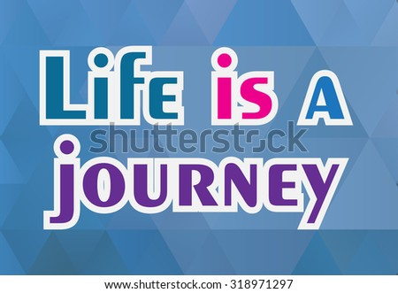 life quote on geometric
