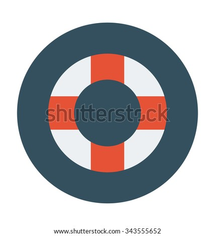 life ring colored vector
