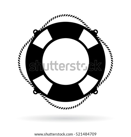 life ring icon vector on white