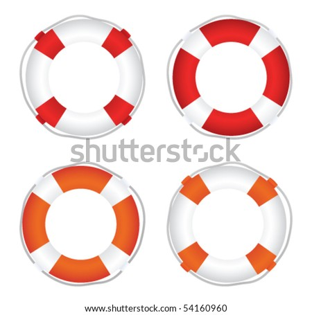 Life Saver set - stock vector