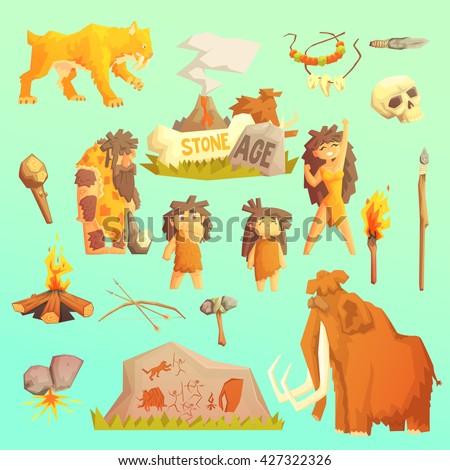 life stone age primitive man