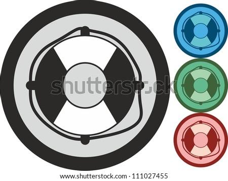 Lifebuoy, vector, icon