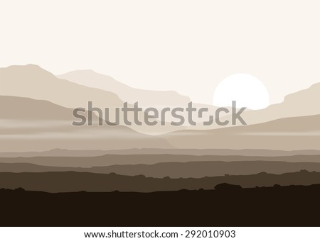 lifeless landscape with huge